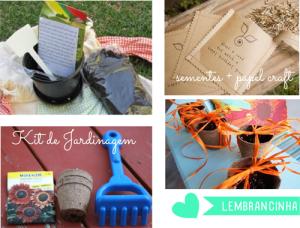 kit de jardinagem e sementes dadas com lembrancinhas de aniversário